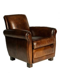 Vintage cigar lounge chair