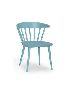 Berry wide dinning chair in bllue