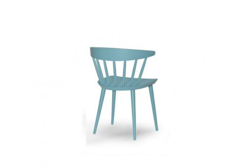 Berry wide dinning chair in blue