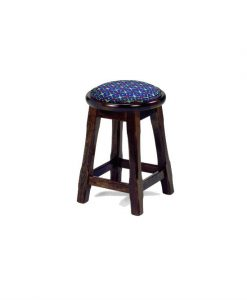 Leura low stool round with padding