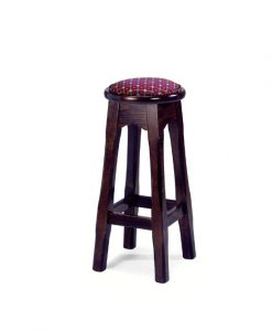 Leura high stool round with padding