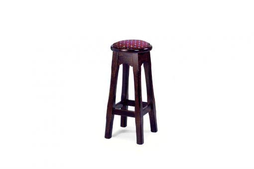 Leura high stool round with padding