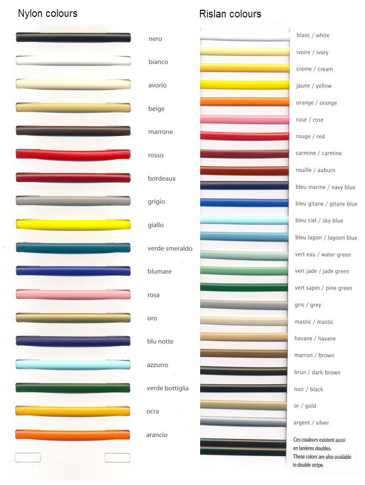 PVC weave colours Nylon & Rislan