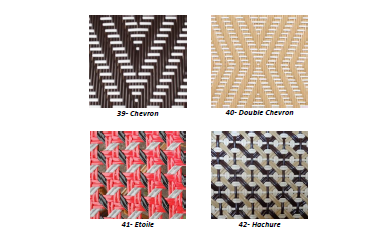 Luxury weave for wicker furniture