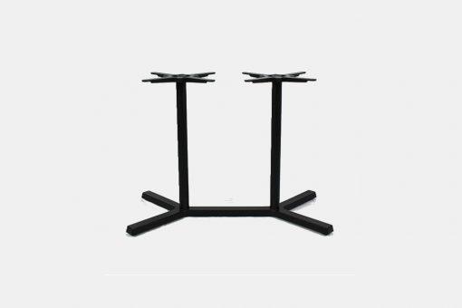 Cross double table base