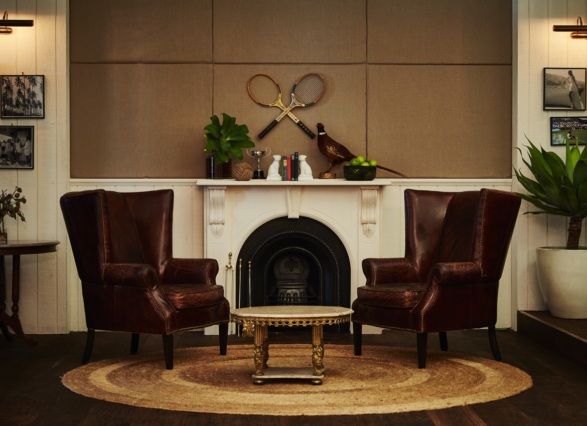 vintage wingback loung