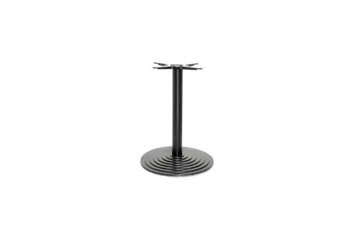 Step small round cast iron table base