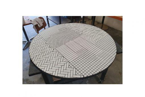 Custom tiled table tops