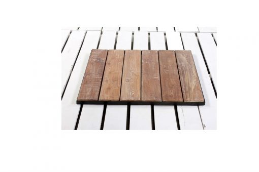 Slat and metal table top