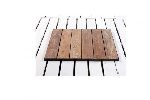 Slat and metal table top