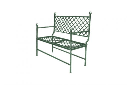 Ferro bench grid two seat sofa