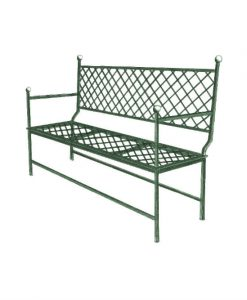 Ferro bench grid three seat sofa
