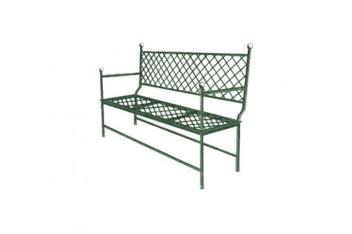 Ferro bench grid three seat sofa
