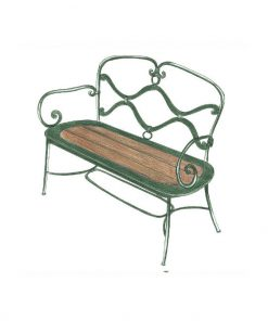Ferro wave wooden two seat sofa
