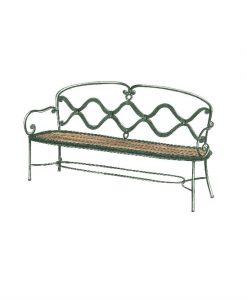 Ferro wave wooden three seat sofa