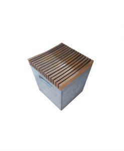 Concrete square stool