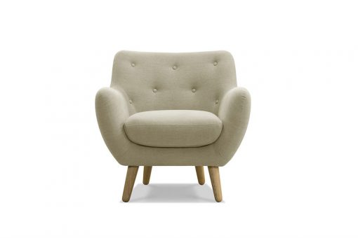 Tufted tub lounge chair