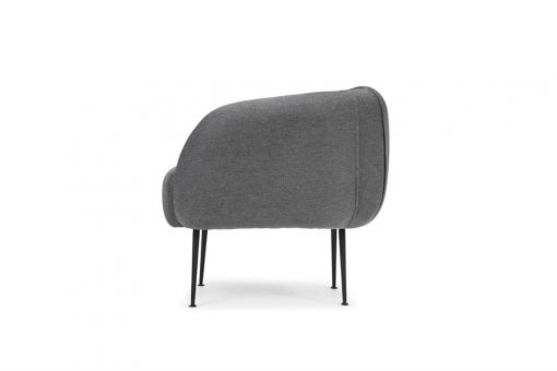 Rounded tub chair