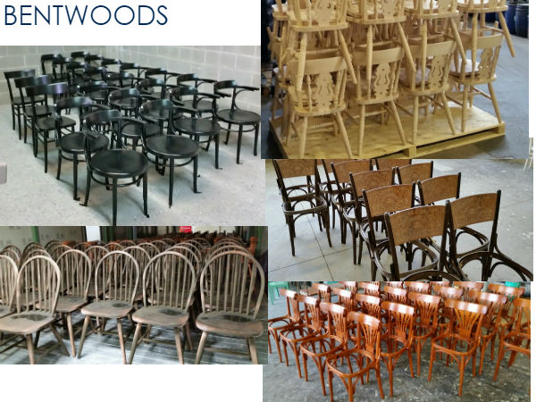 Italian made bentwood seating