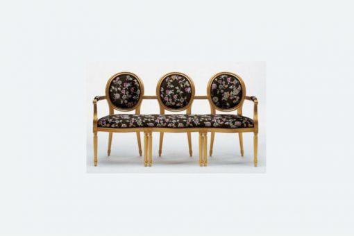 Amandine triple armchair