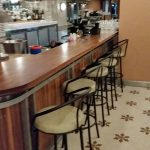 Fountain eatery and bar furniture supplied by Atmosphere Custom Furniture