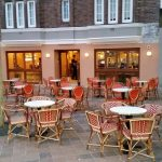 Italian wicker seating and custom made tables