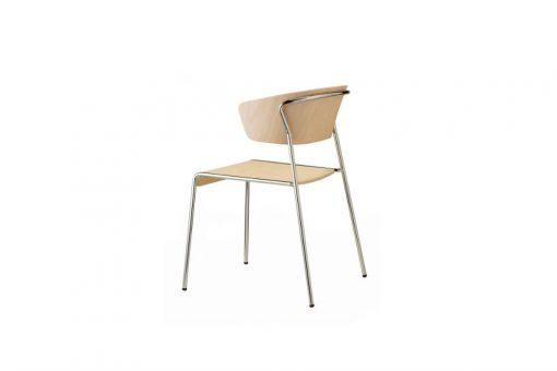 Lisa wood chair with armrests