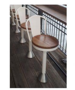 Fixed swivel stool