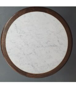 Timber and marble inlay table tops